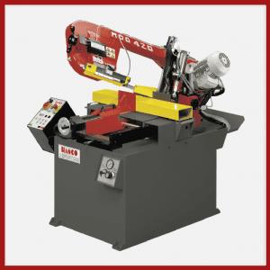 Halbautomatische Doppelgehrungsbandsäge BIANCO MOD. 420 SA DS MS. Erhältlich bei Ritke, dem Partner für maßgeschneiderte Sägelösungen aus Steinau.