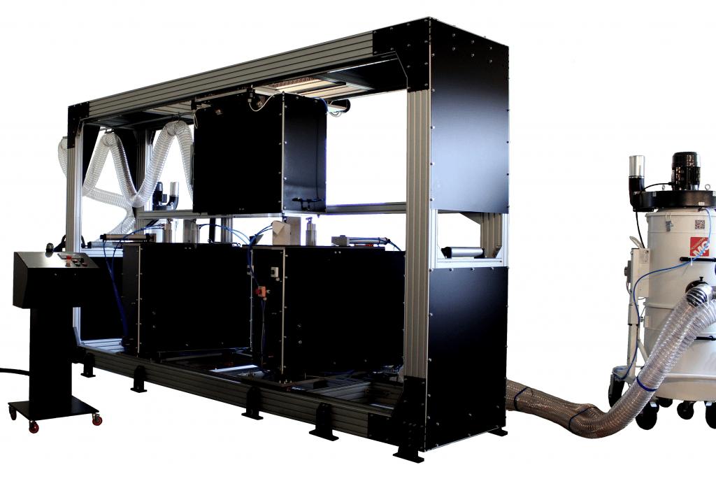 Aluminiumkreissägeanlage zum vollautomatischen Sägen von Vierkant-Aluminium-Hohlprofilen. Erhältlich bei Ritke, dem Partner für maßgeschneiderte Sägelösungen aus Steinau.